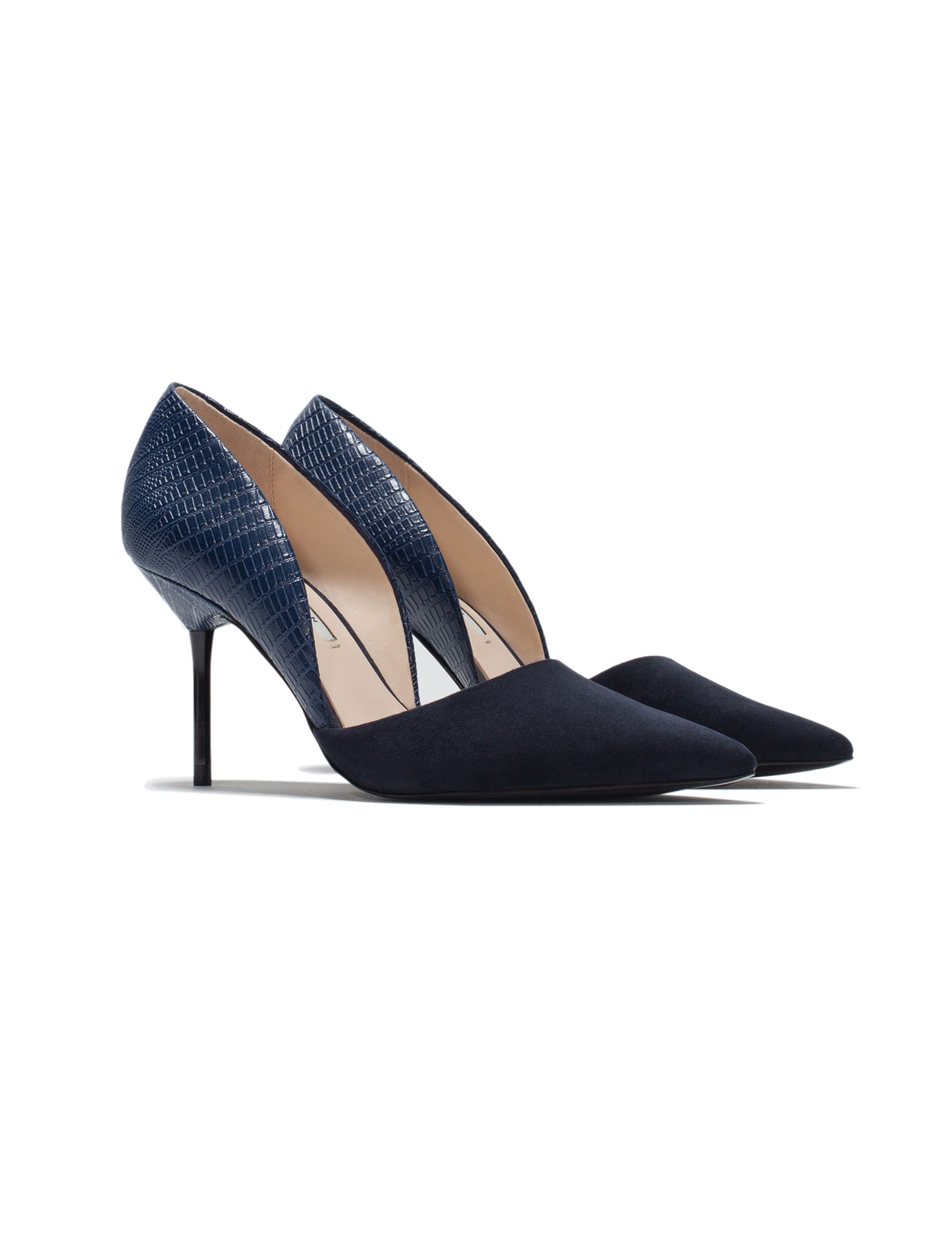 Zara Court Shoe With Asymmetric Strap