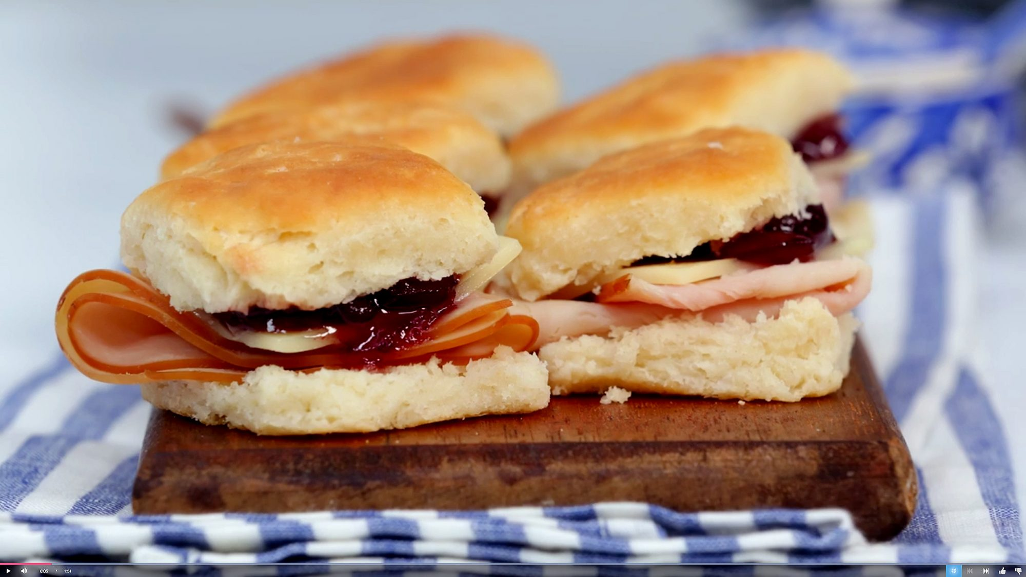 Mini ham and cheese biscuits