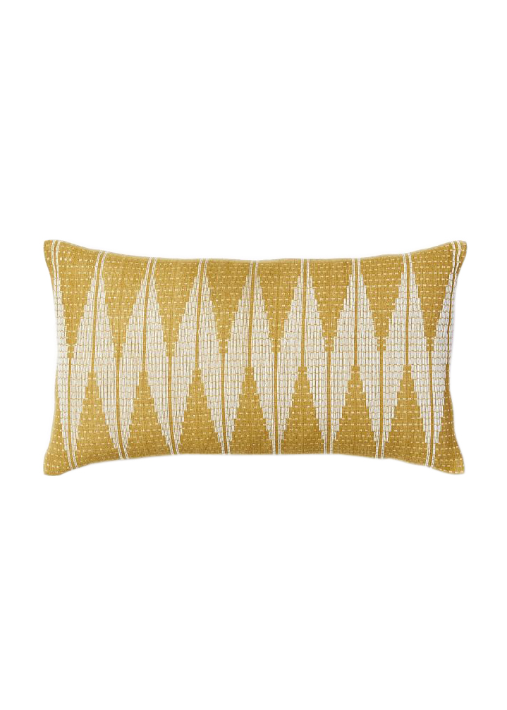 Hand-Loomed Chevron Diamond Pillow Cover
