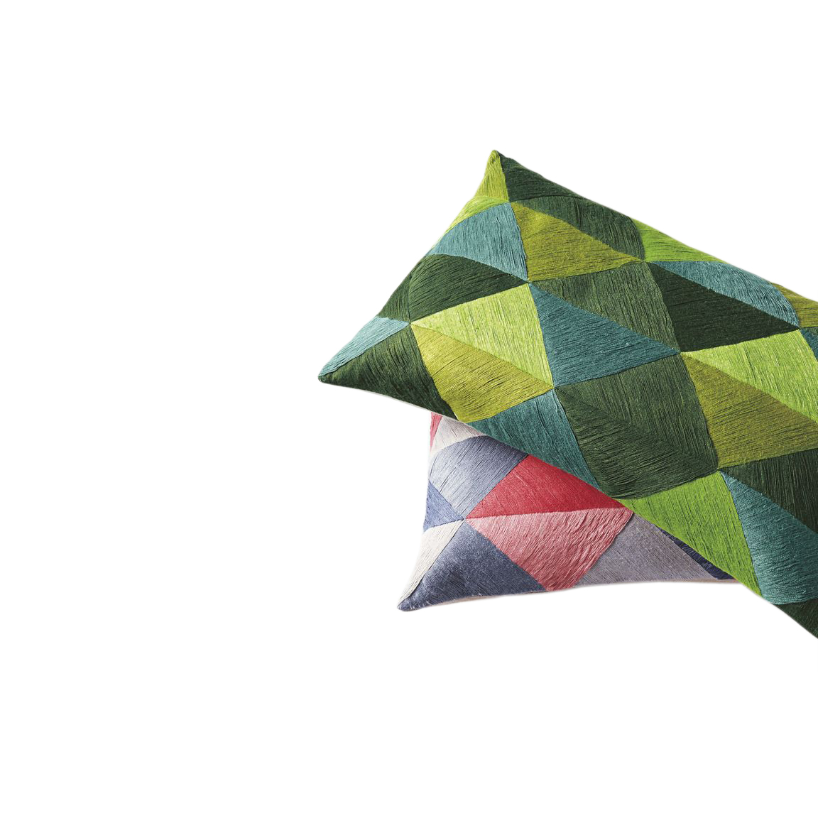 Embroidered Triangle Pillow