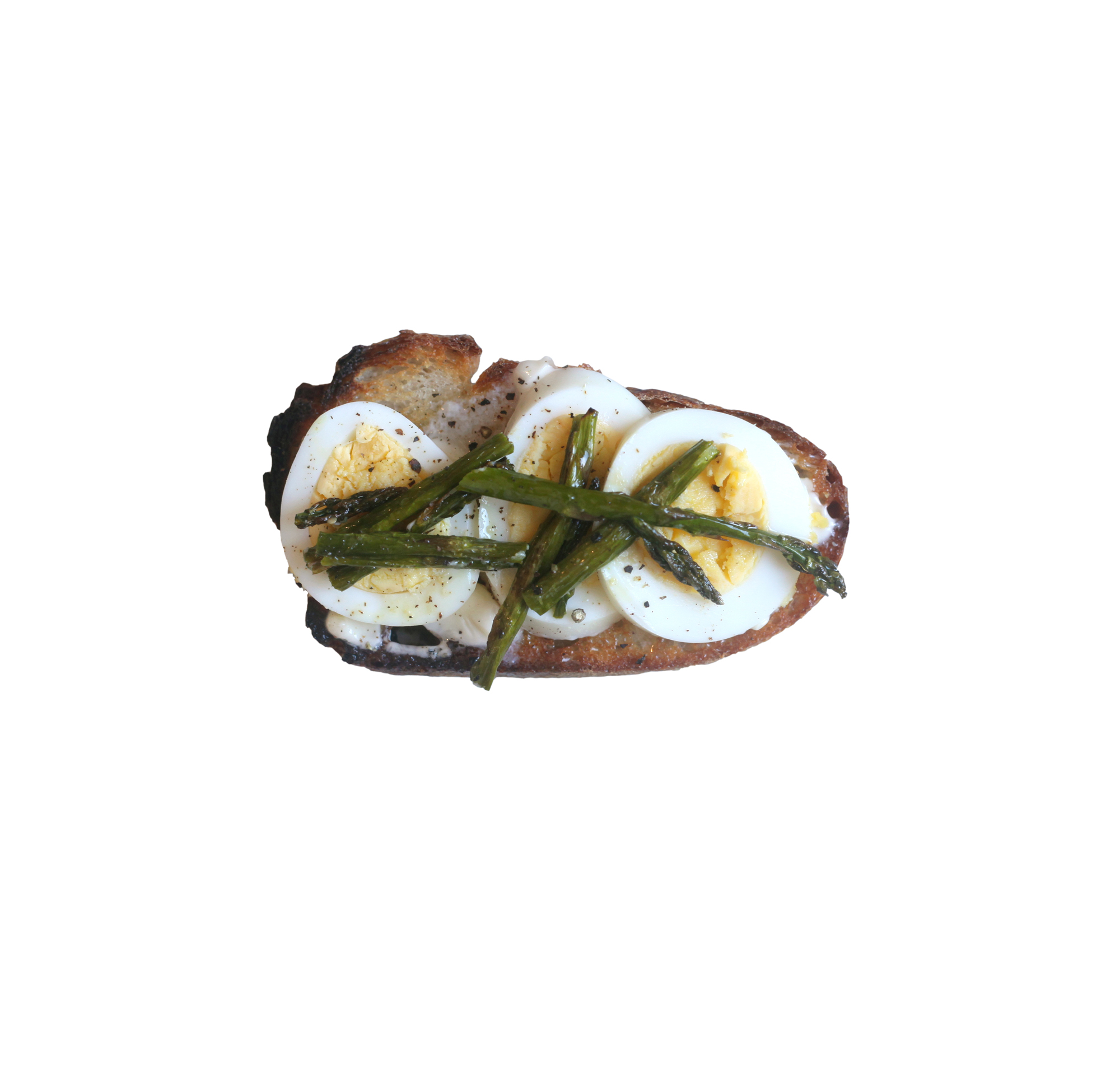 Roasted Asparagus and Egg Toast