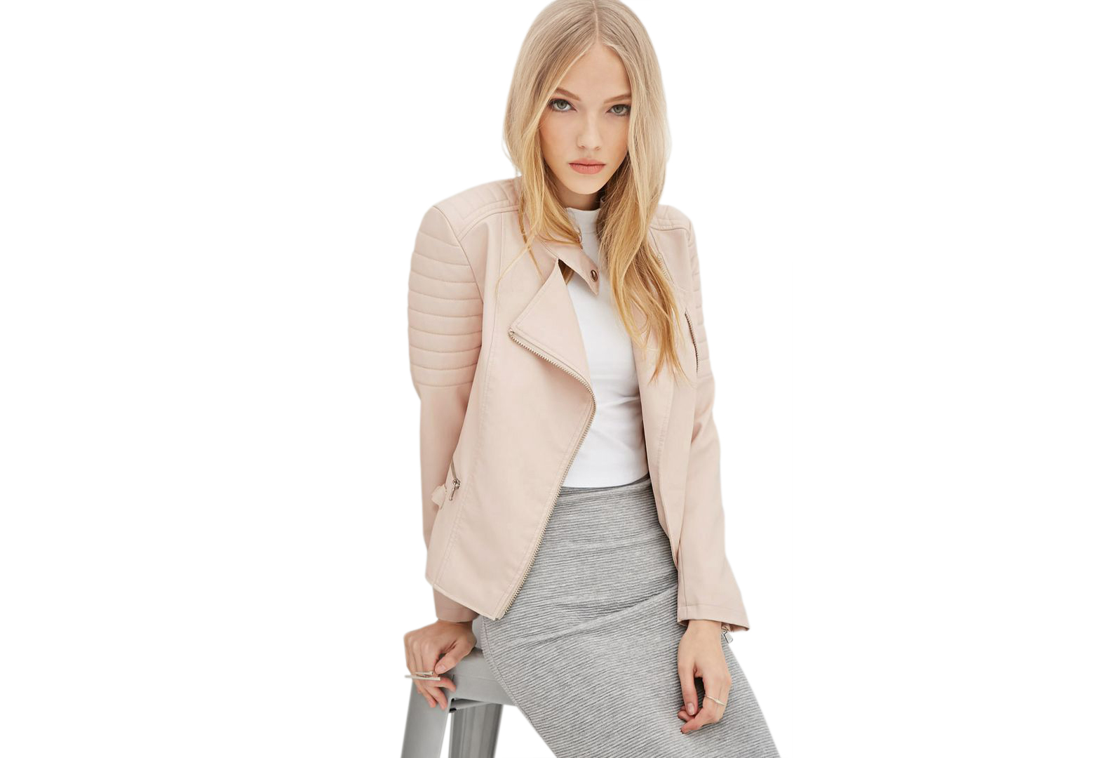 Forever 21 Faux Leather Biker Jacket