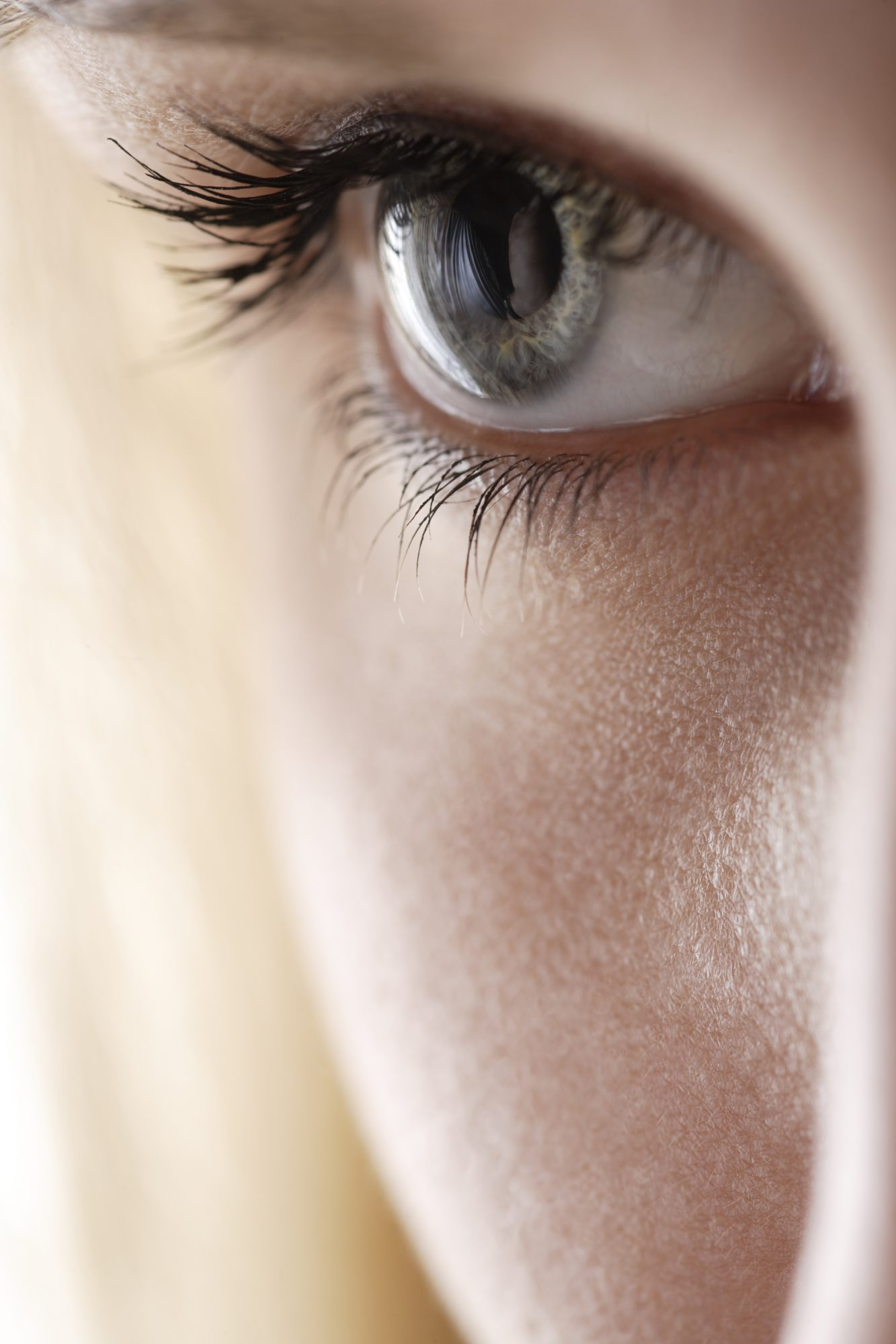 woman's eye close up