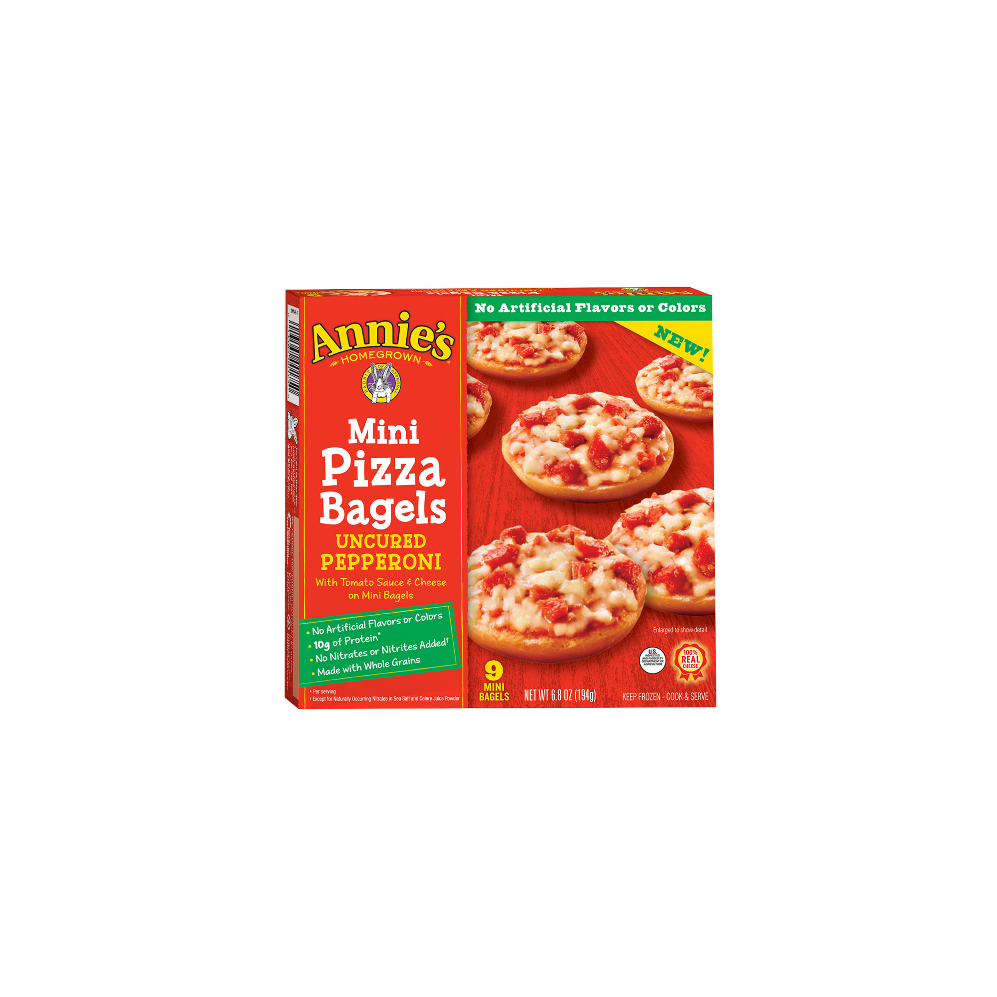 Annie's Uncured Pepperoni Mini Pizza Bagels