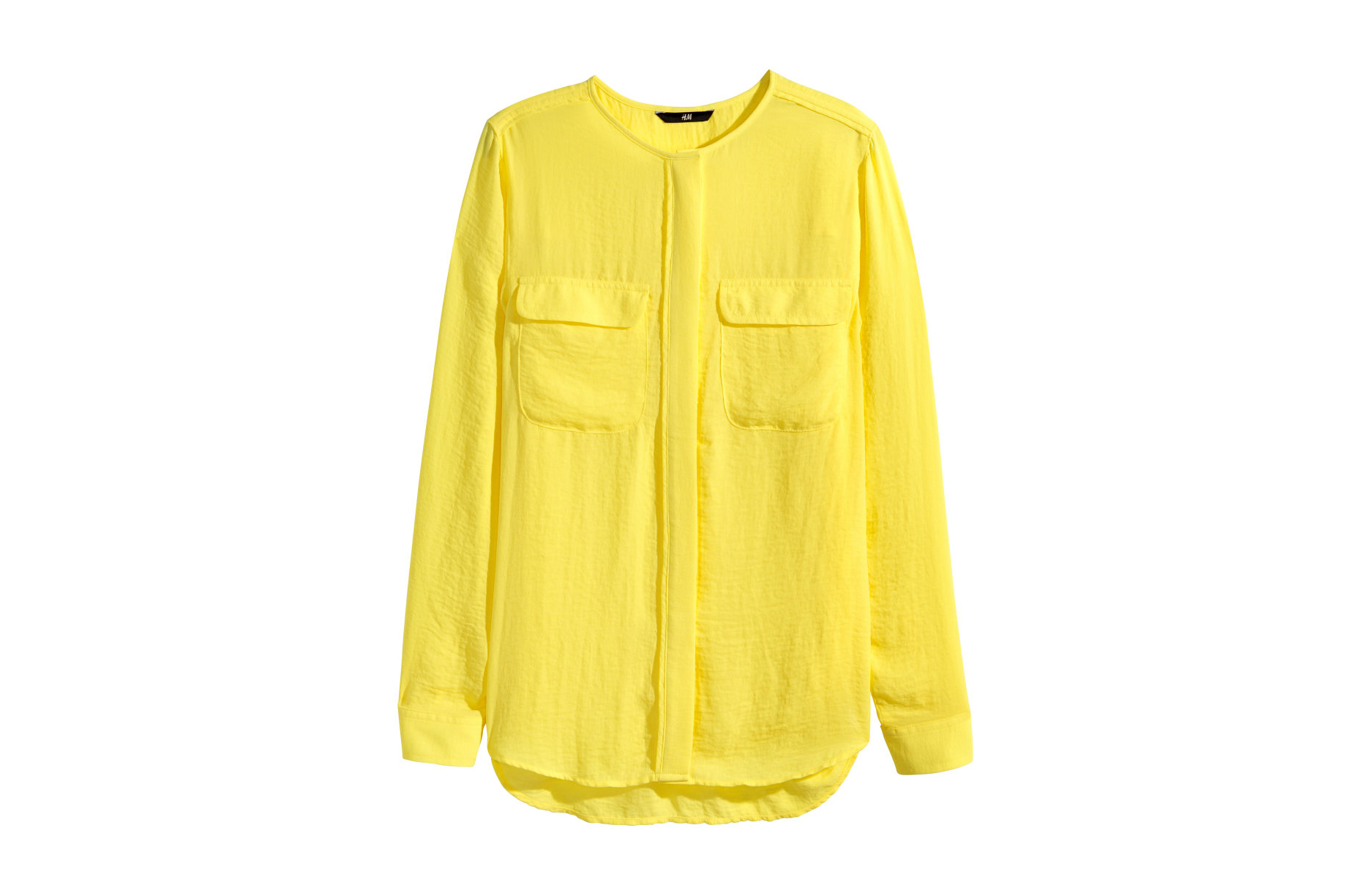 H&M Airy Blouse Yellow