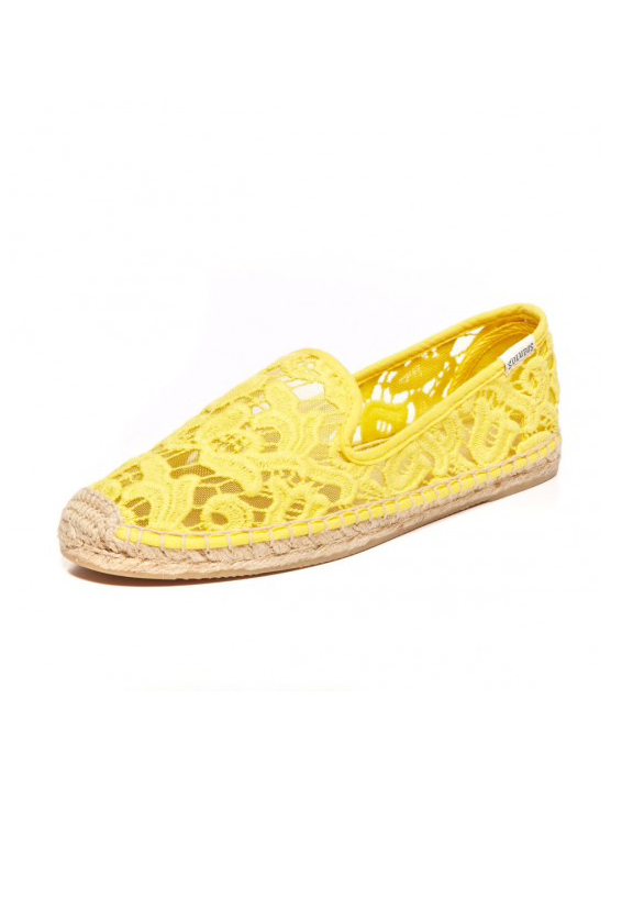 Soludos Smoking Slipper Tulip Lace Daffodil