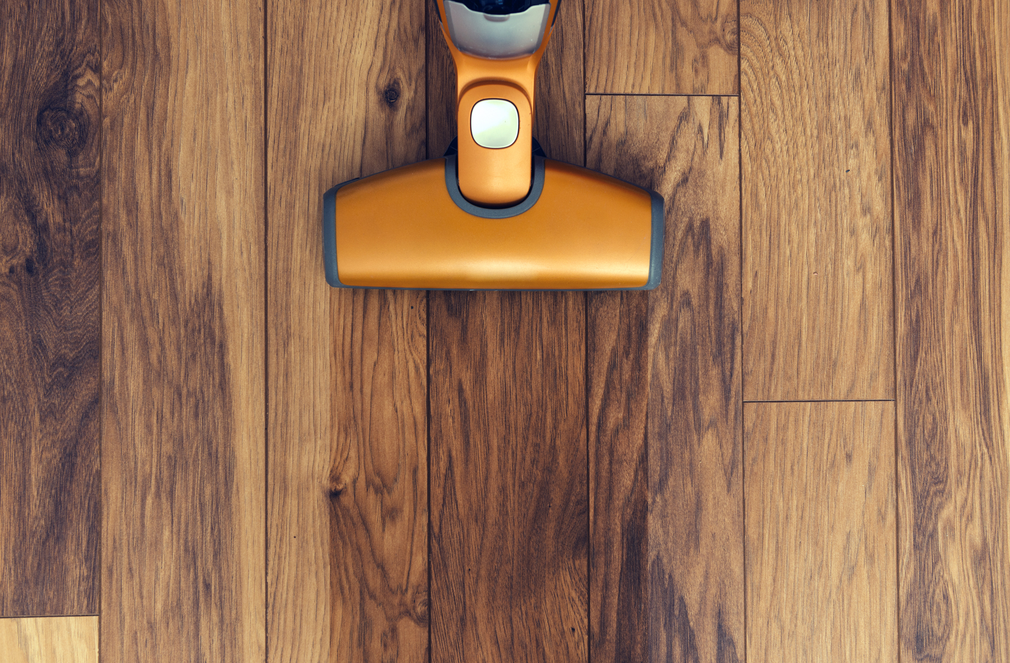 Steam cleaner on wood floor