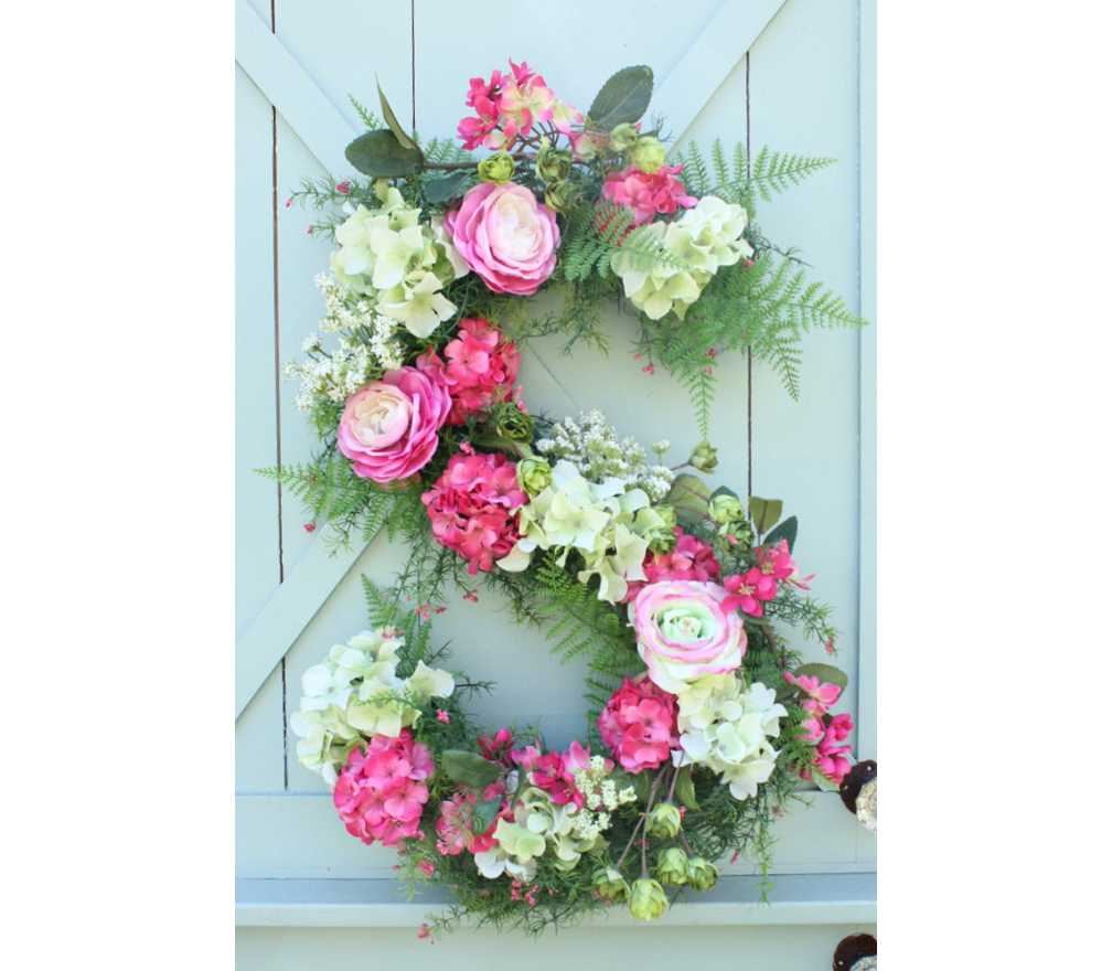 monogram floral wreath