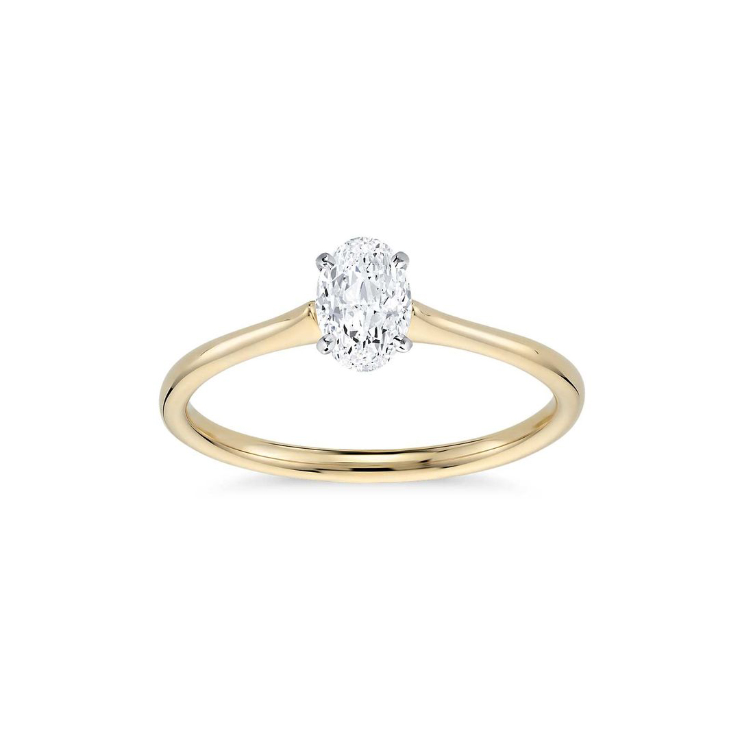 Blue Nile Petite Solitaire Engagement Ring in 18K
