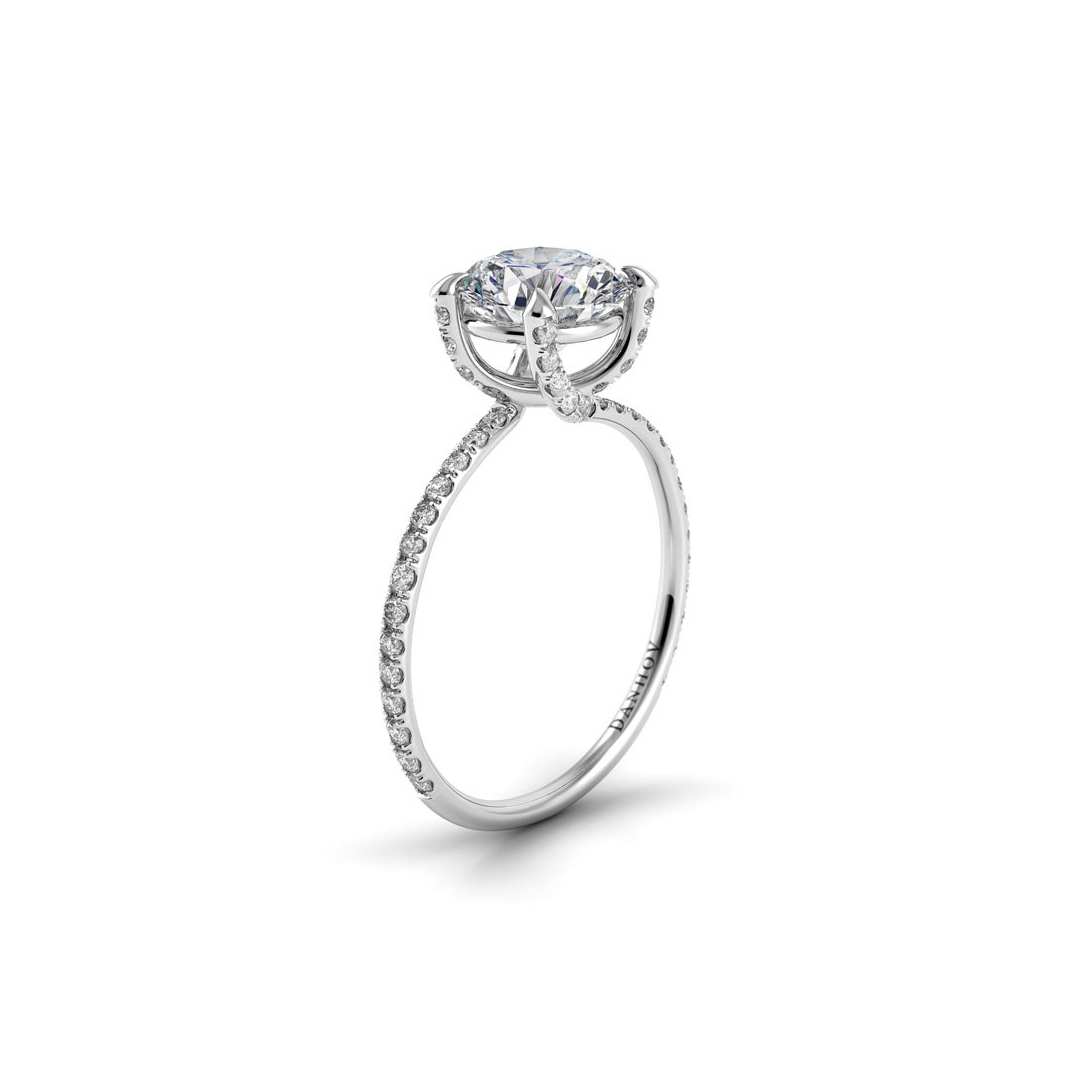Danhov Eleganza Single Shank Engagement Ring 18K