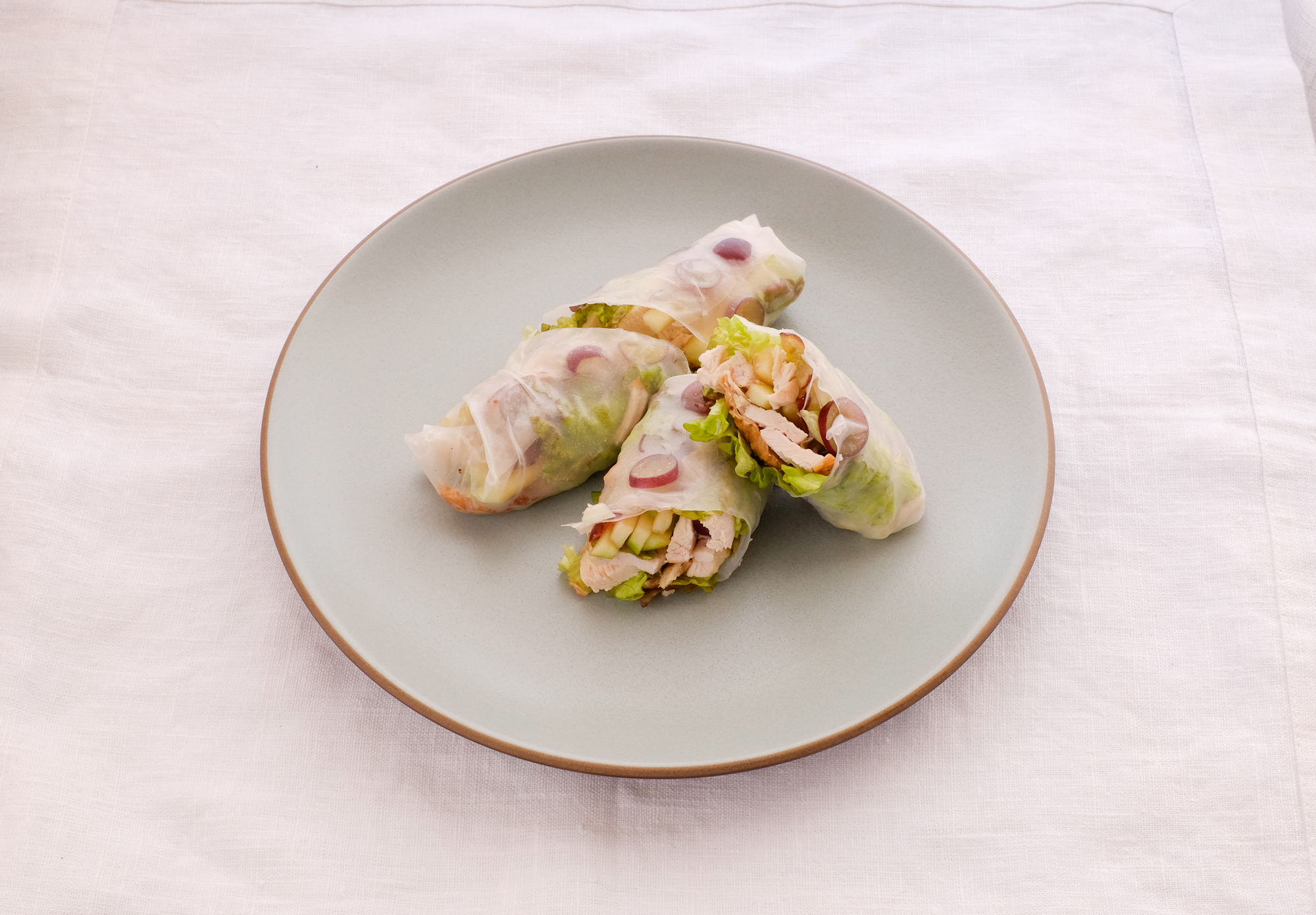 Chicken Salad Rice Paper Rolls