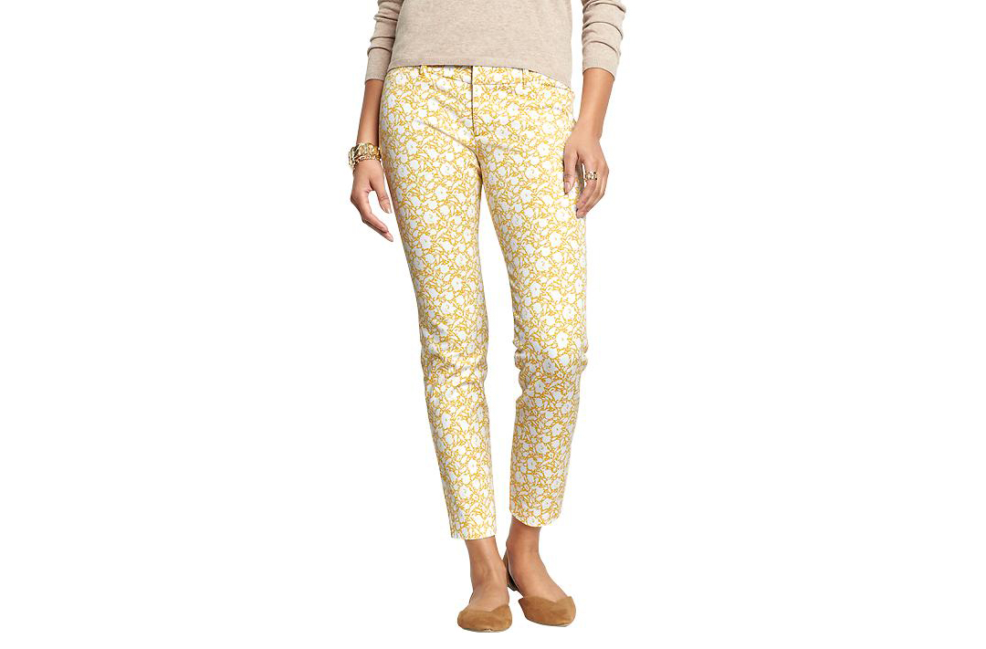 Old Navy Pixie Pants Yellow Flower