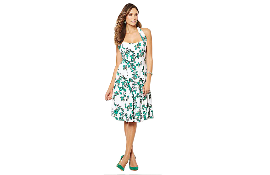 Eva Mendes Collection Beatriz Halter Dress Ivy Print