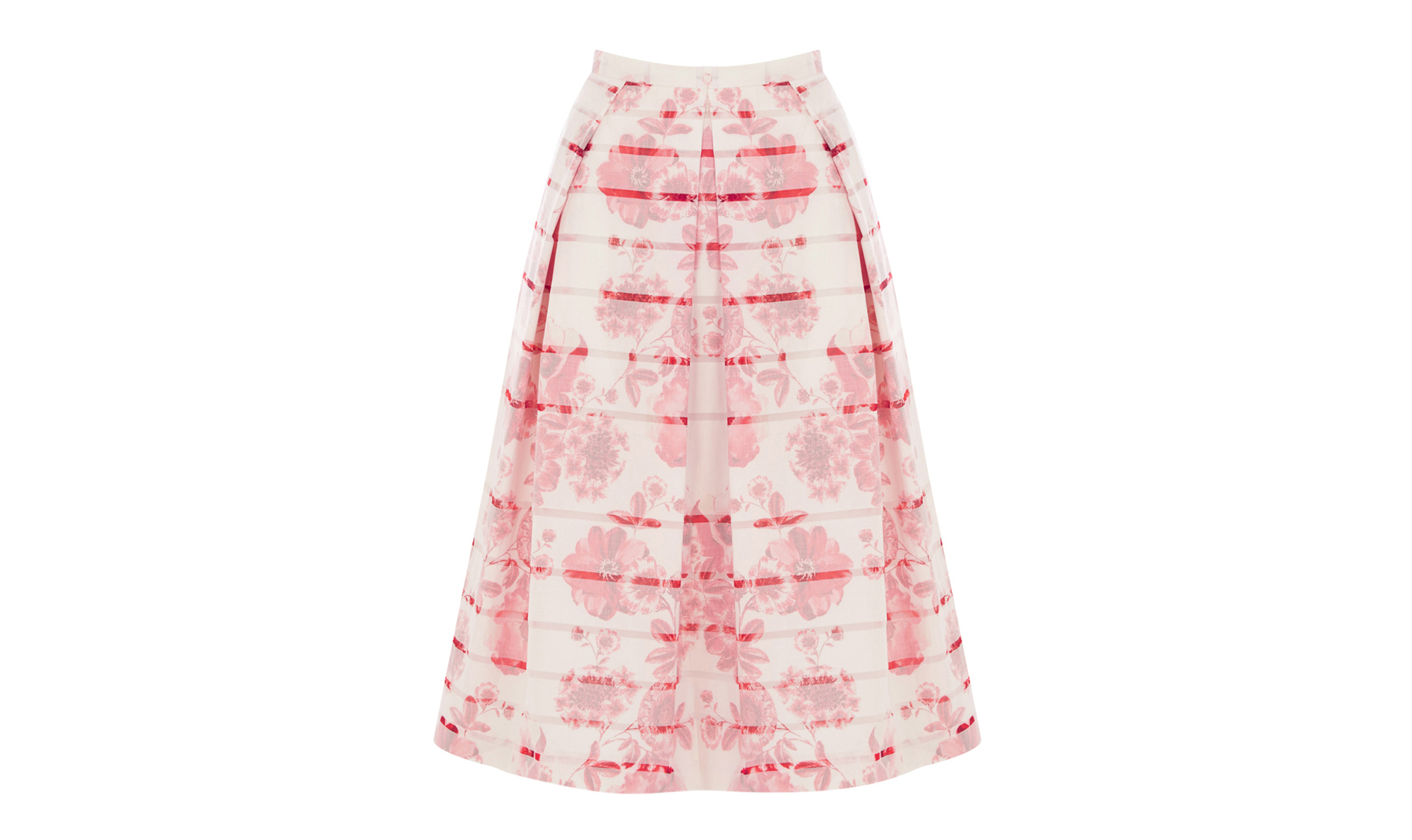 Oasis Etched Botanical Burned-out Midi Skirt