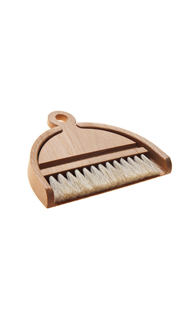 Beechwood Horsehair Table Brush Set