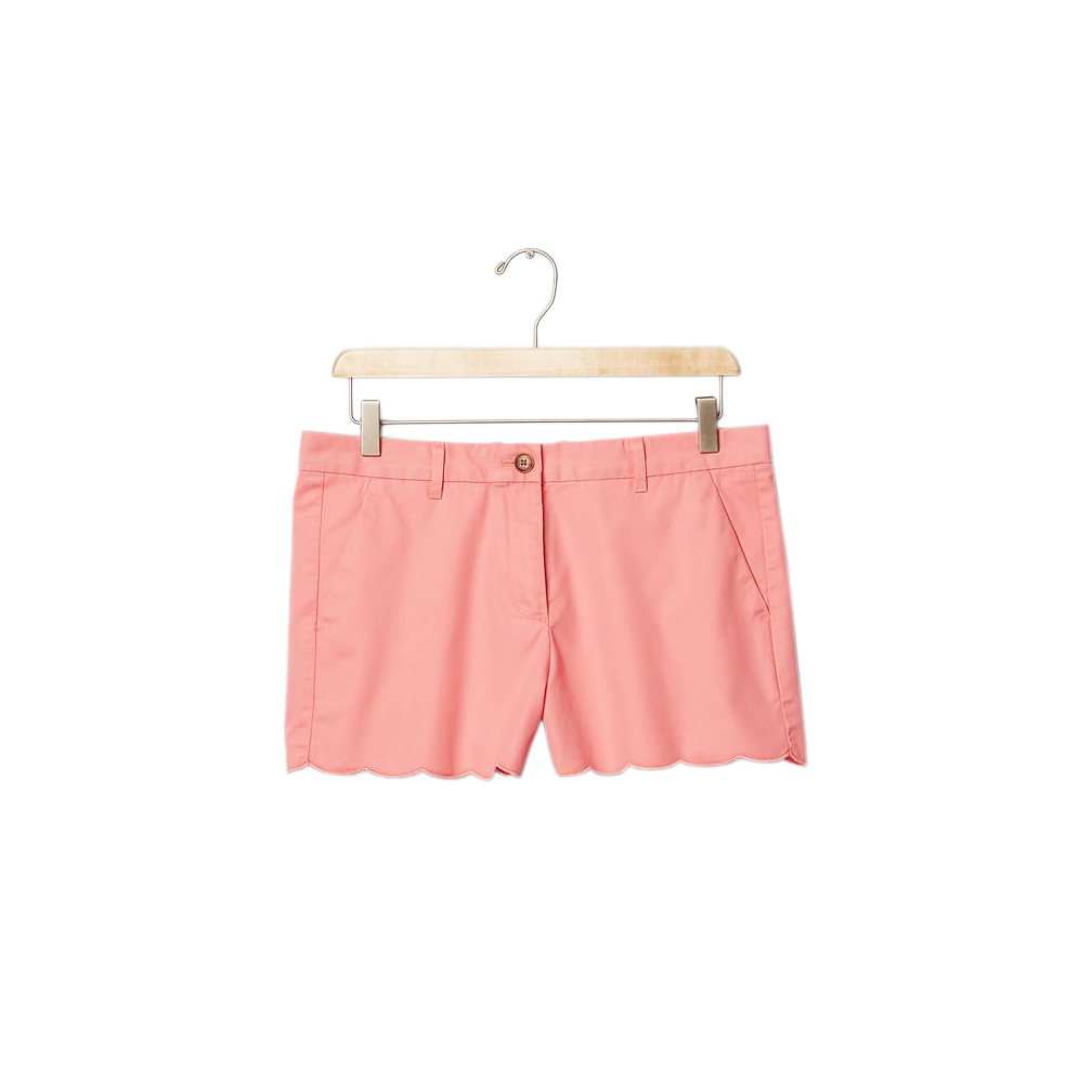 Gap Scalloped Summer Shorts Pink Heart