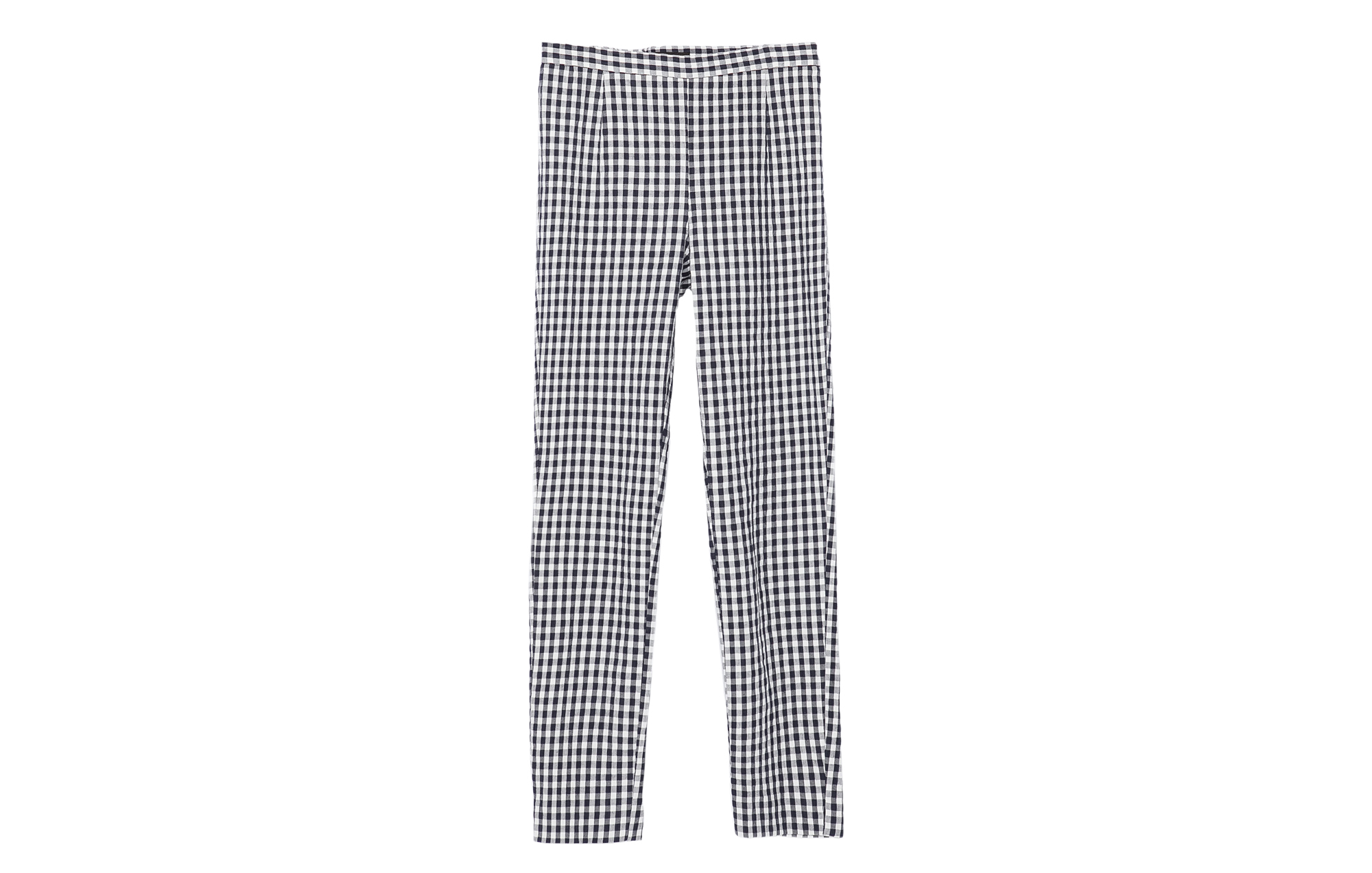 Zara Checked Skinny Trousers