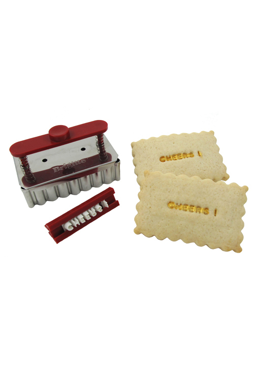 """Message on a Cookie"" Text Stamp & Cutter Set"