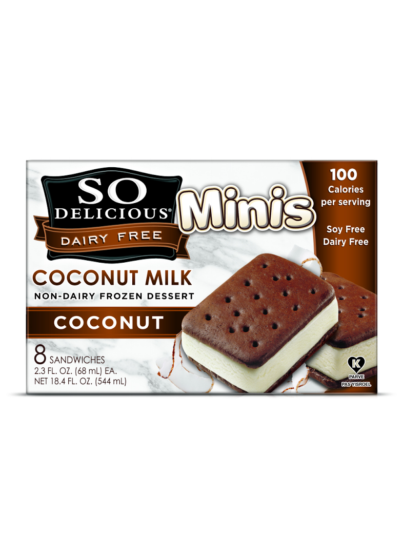 So Delicious Dairy Free Frozen Dessert Coconut Milk Mini Coconut Sandwiches