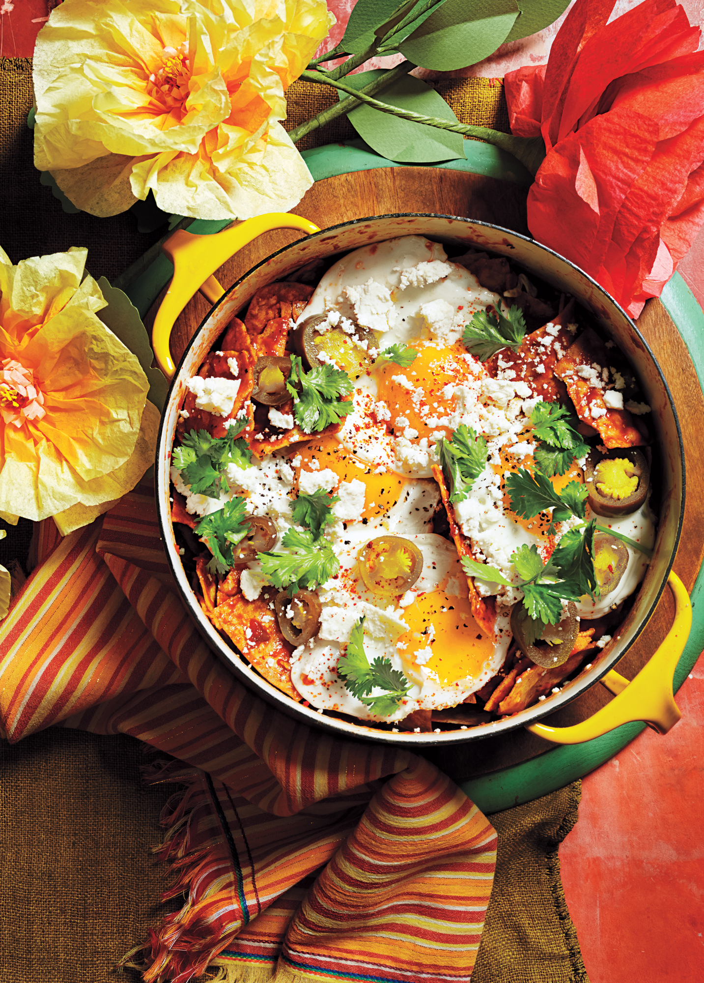 Chilaquiles with Fried Eggs