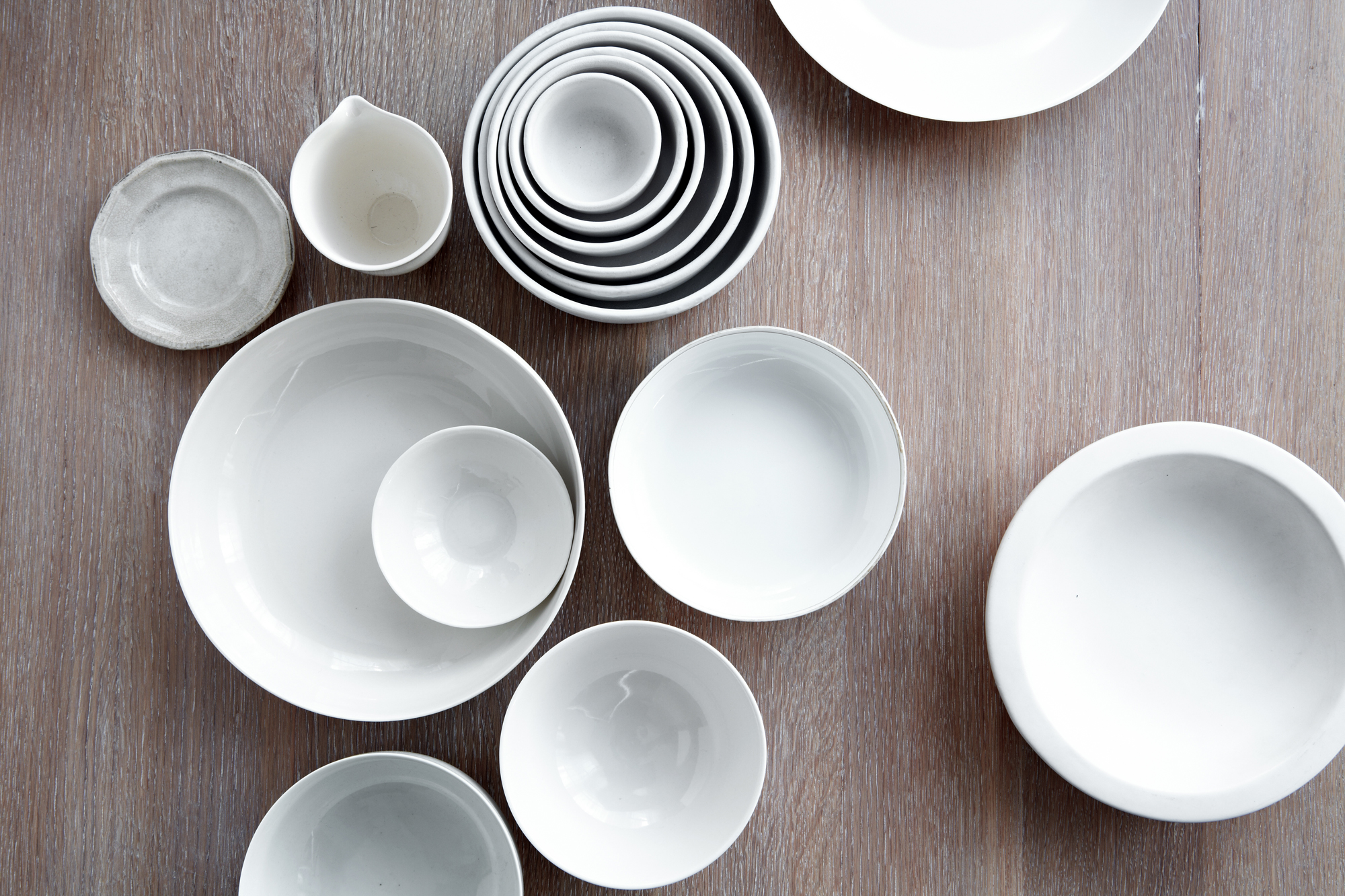 White ceramic dishware