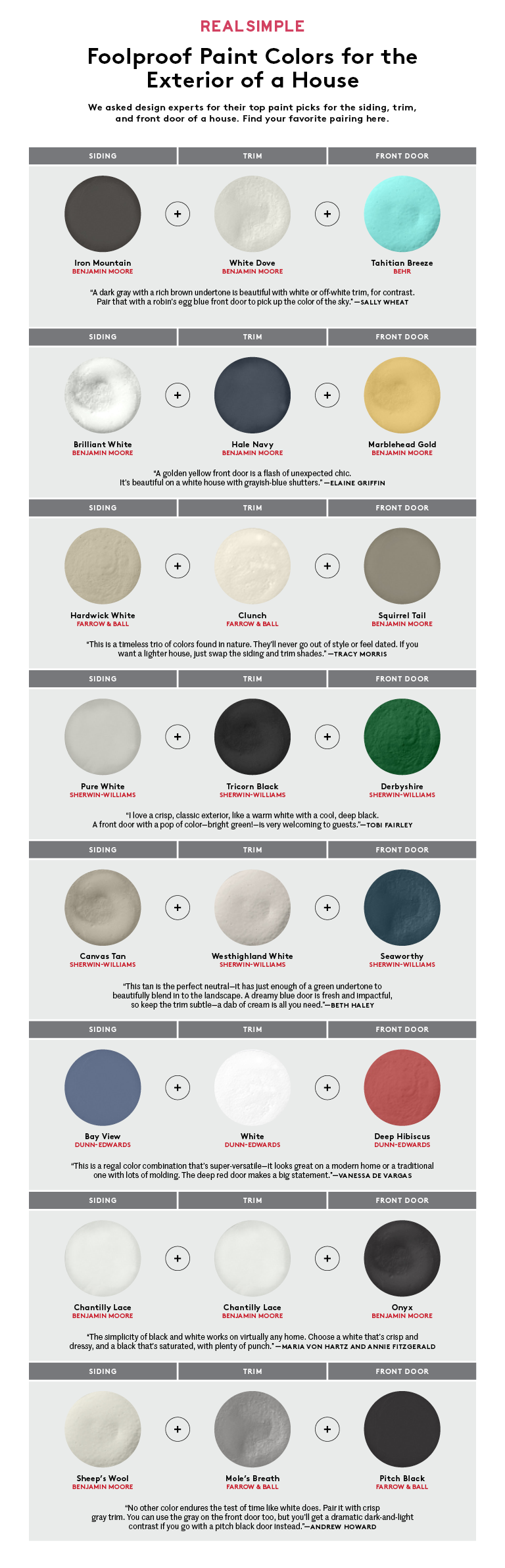 Exterior house colors chart real simple for How to pick paint colors