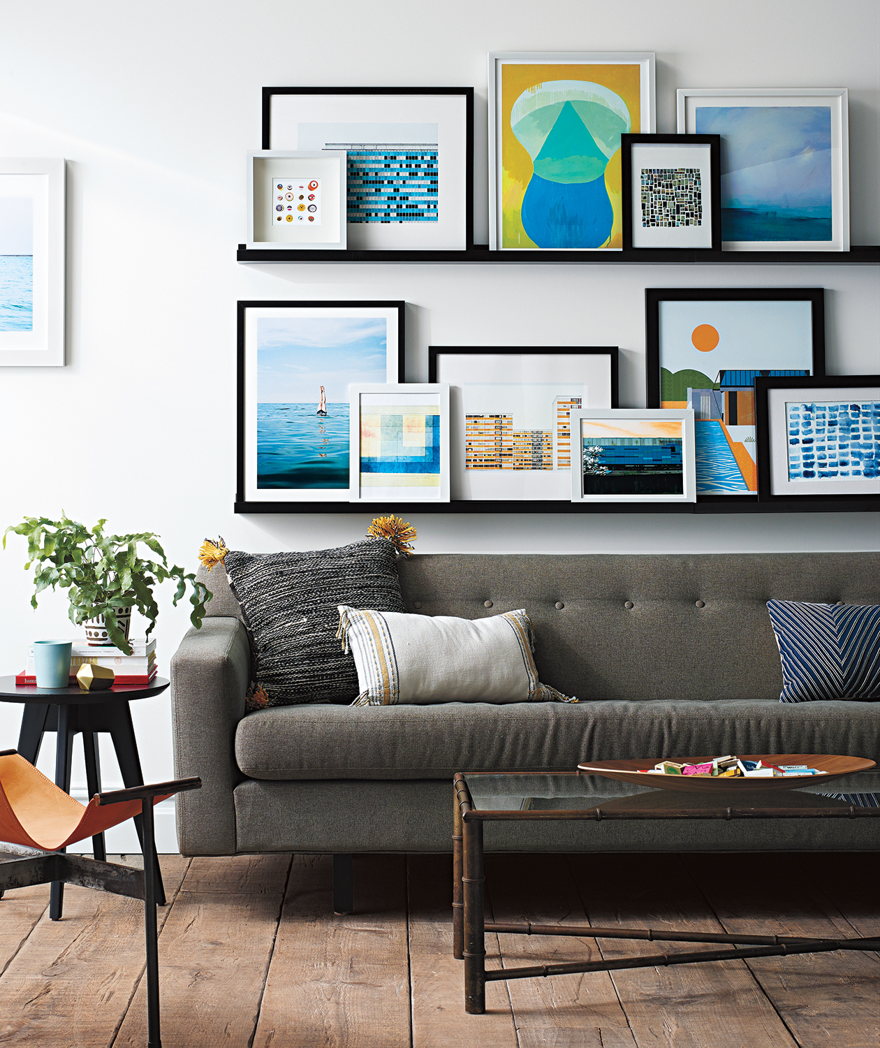 Gallery Wall: Leaning on Ledges