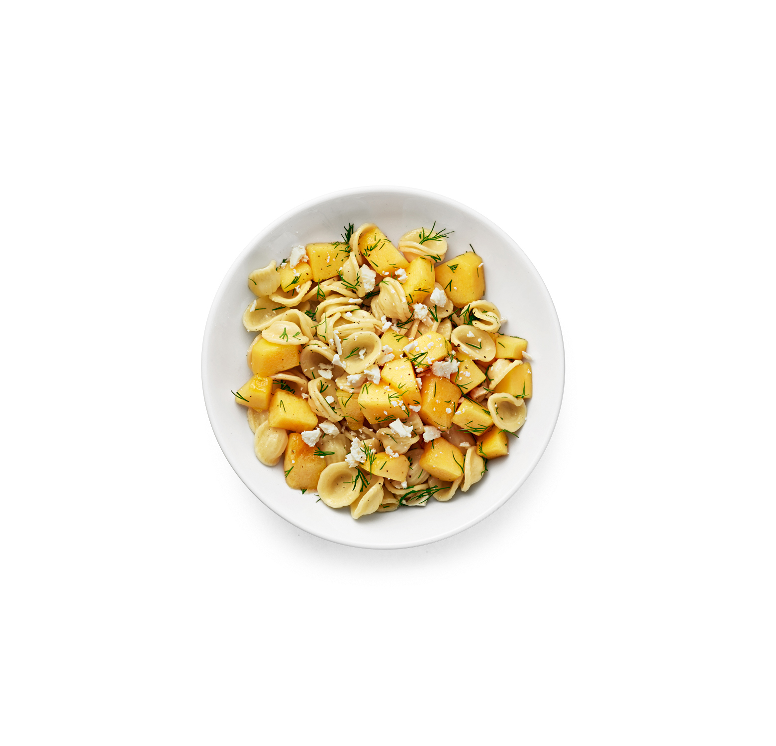 Pasta Salad with Cantaloupe, Feta, and Dill
