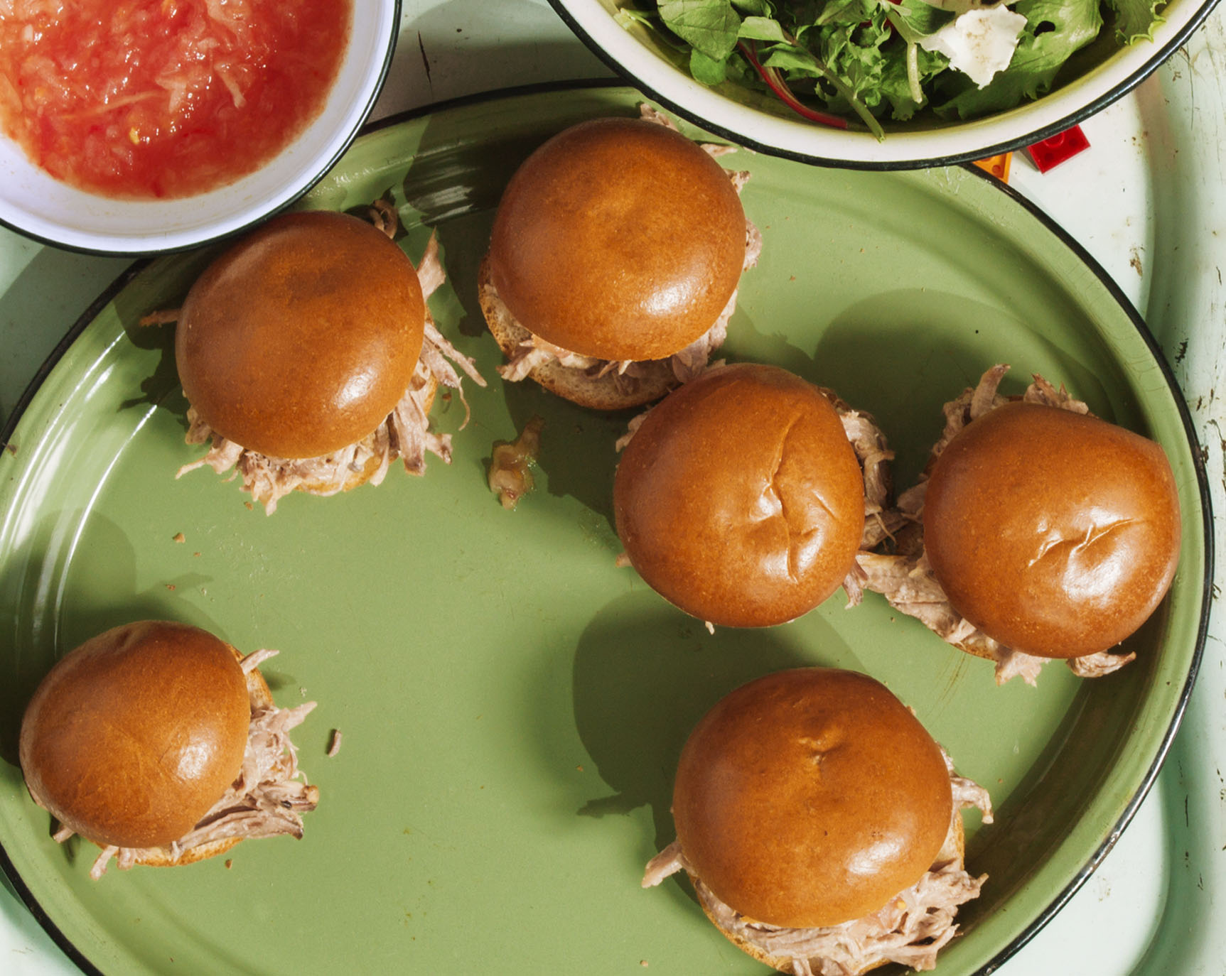Beer-Braised Pulled-Pork Sliders With Fresh Salsa