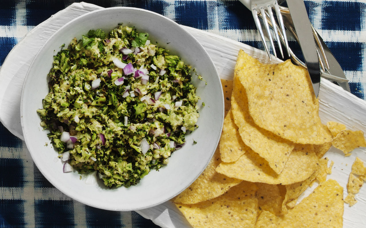 Charred Broccoli Guacamole