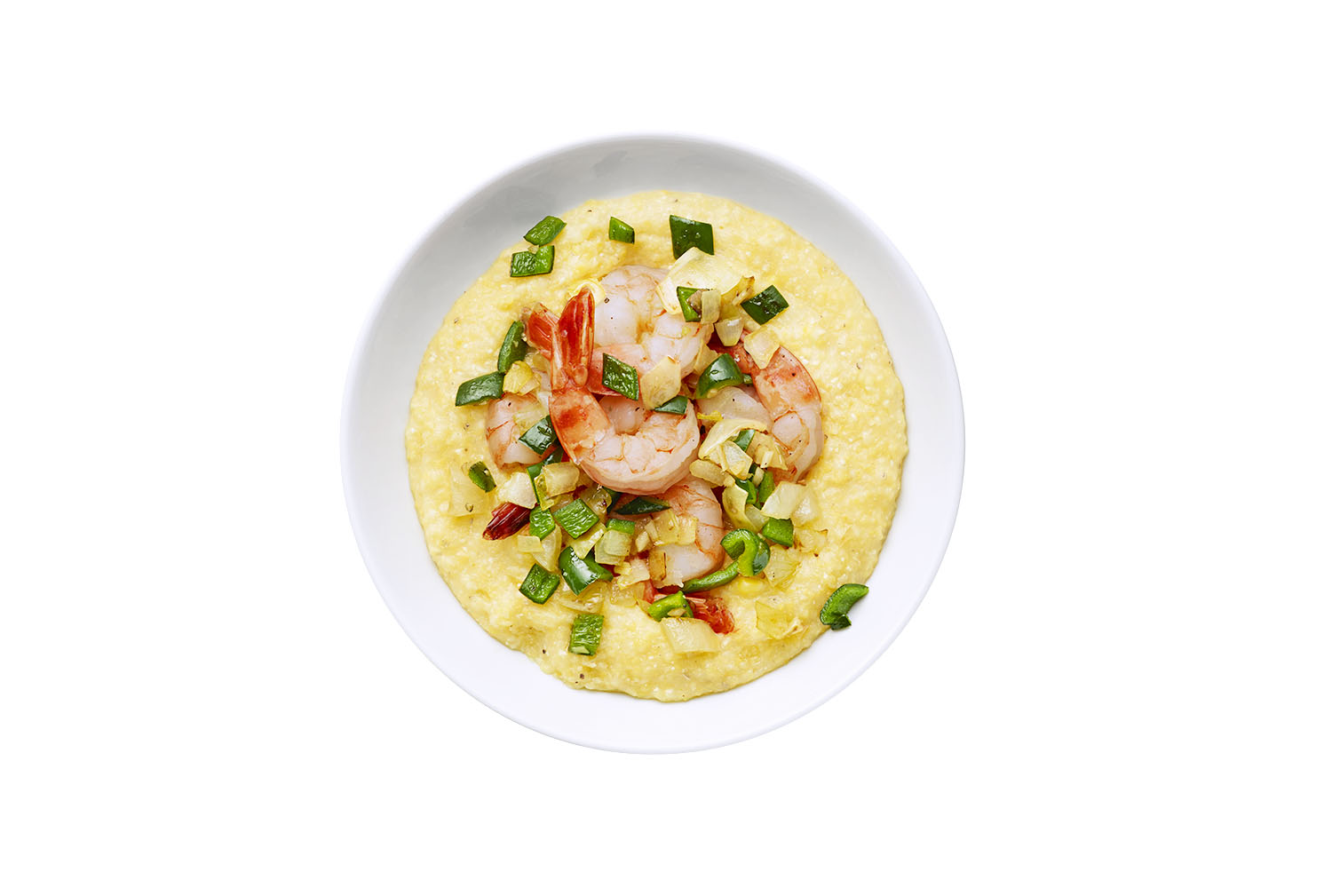 Corn Polenta With Shrimp
