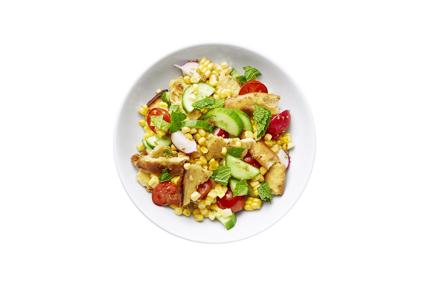 Corn and Tomato Salad With Cumin-Lime Dressing