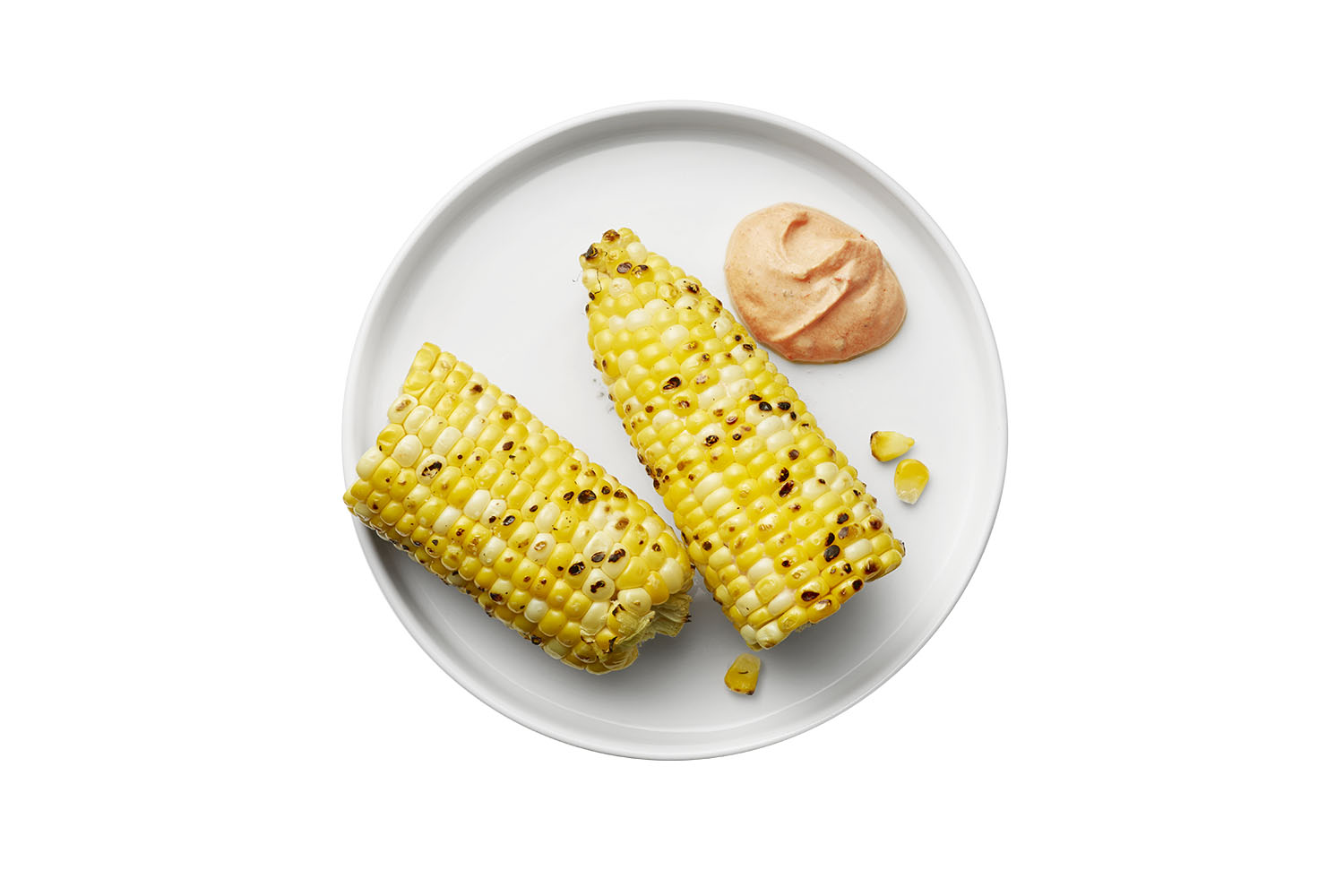 Grilled Corn With Harissa Yogurt