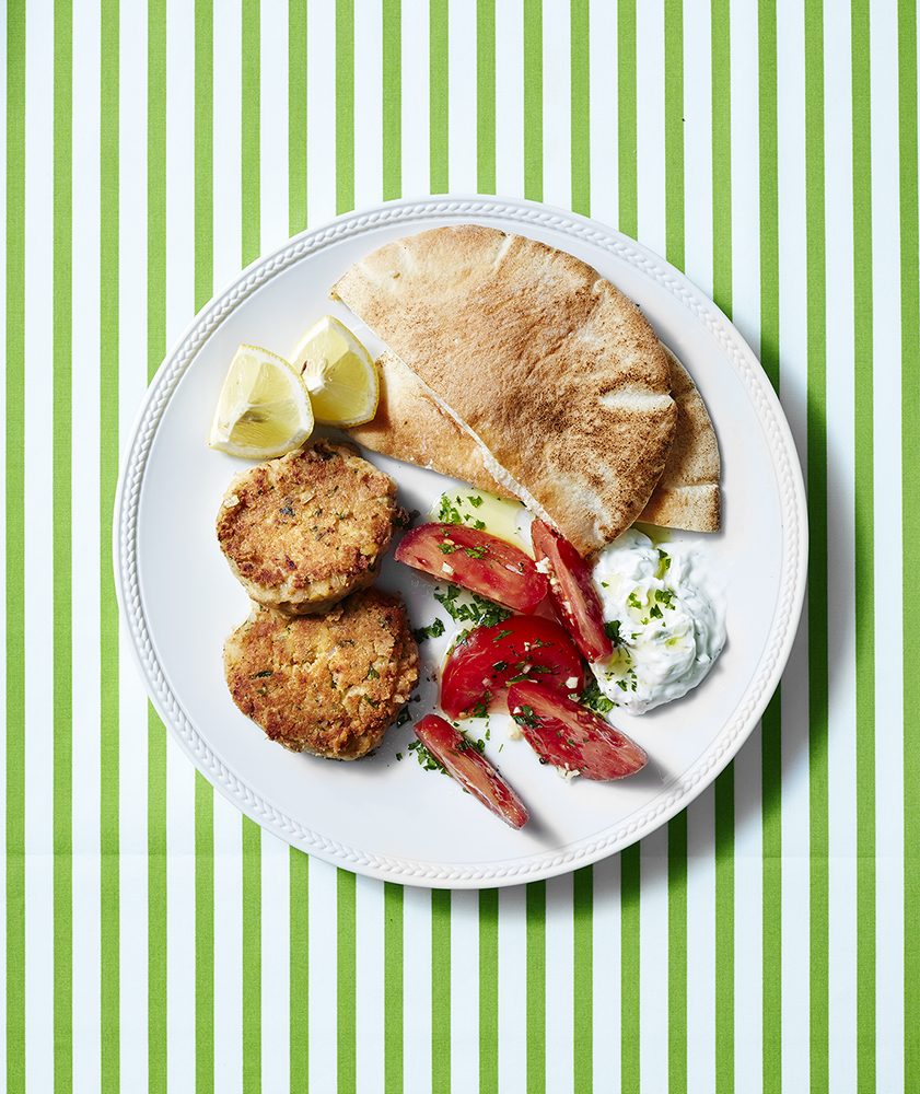 Falafel Patties with Tomato Salad