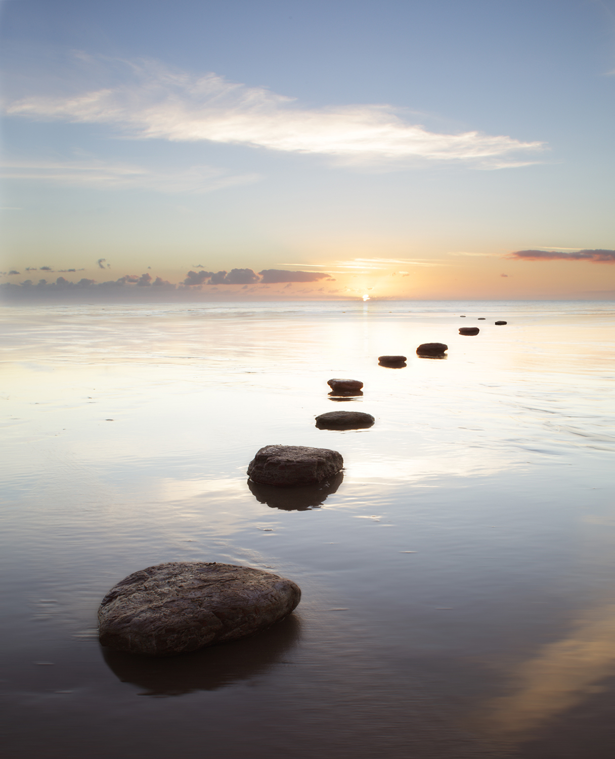 rocks-water-sunset-calm