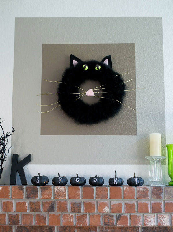bixby black cat wreath