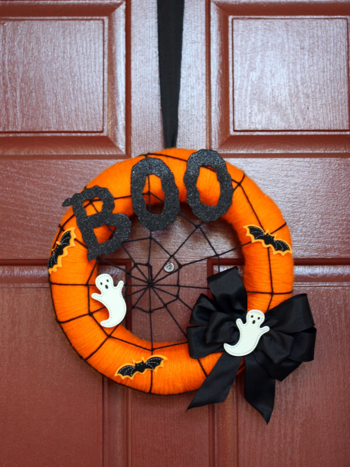 Orange Boo Wreath