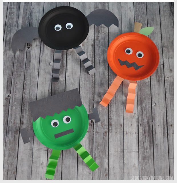 Paper Plate Halloween Characters