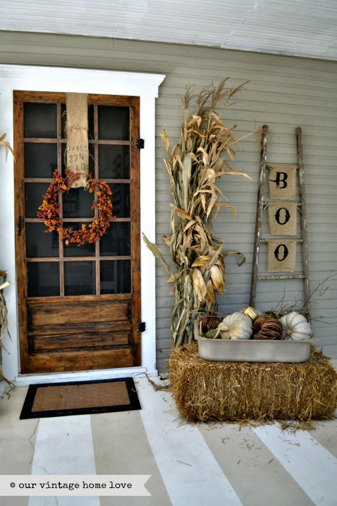 Rustic Fall Porch