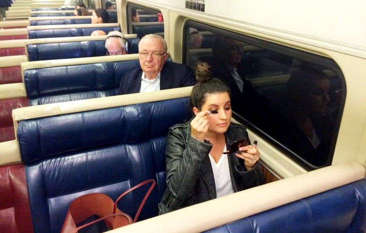 Yes, It's OK to Apply Your Makeup on the Train