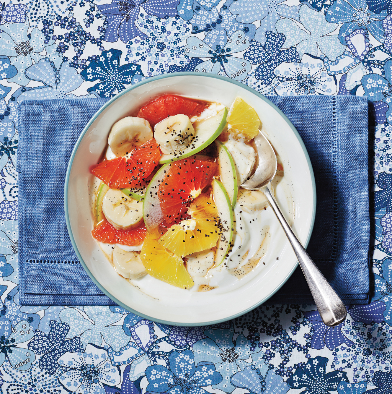 Grapefruit Salad with Vanilla Syrup and Yogurt