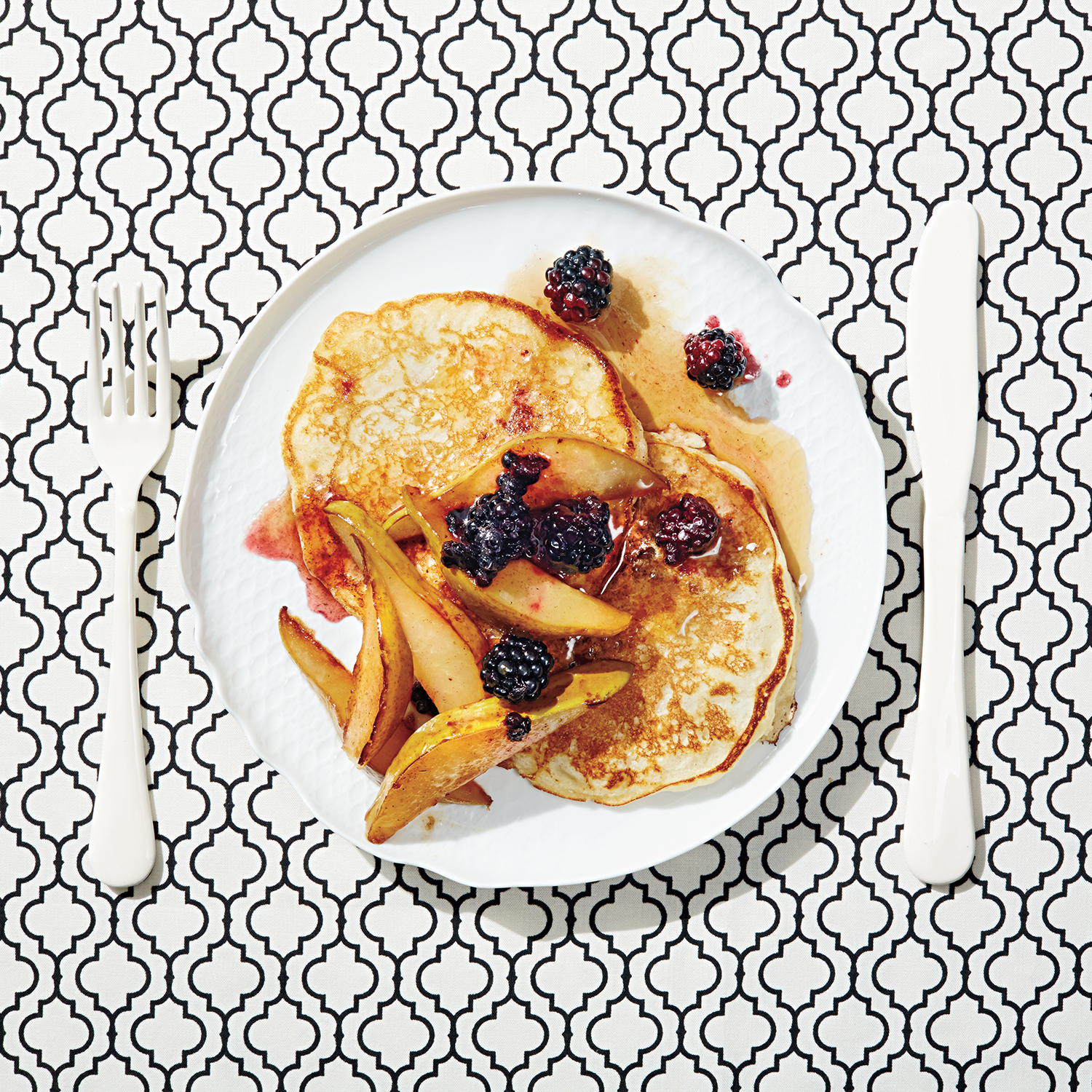 14 instagram worthy breakfasts that taste as good as they look The Ultimate Muffin buttermilk pancakes with pan roasted pears and blackberries