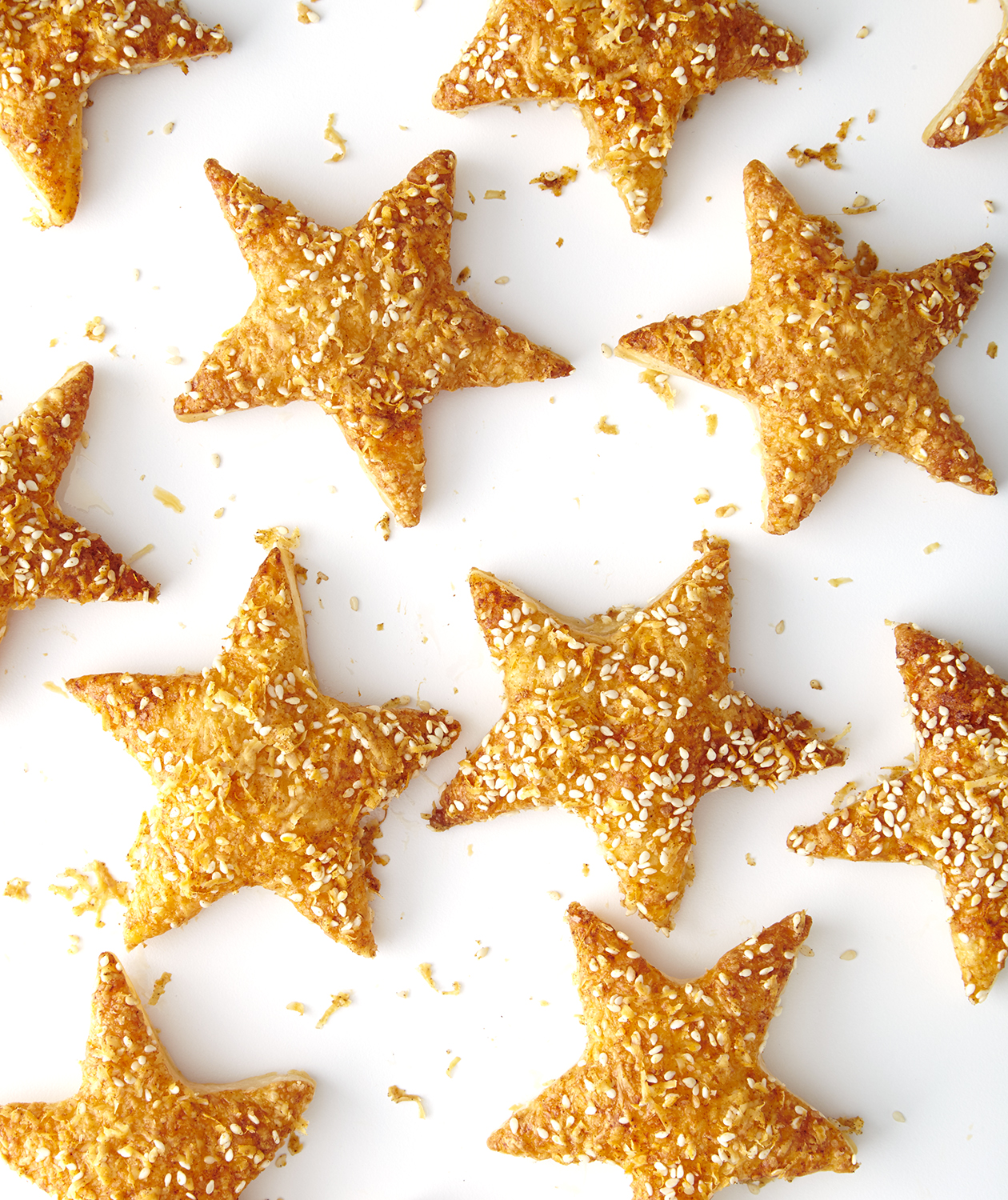 Starry Sesame Cheese Puffs