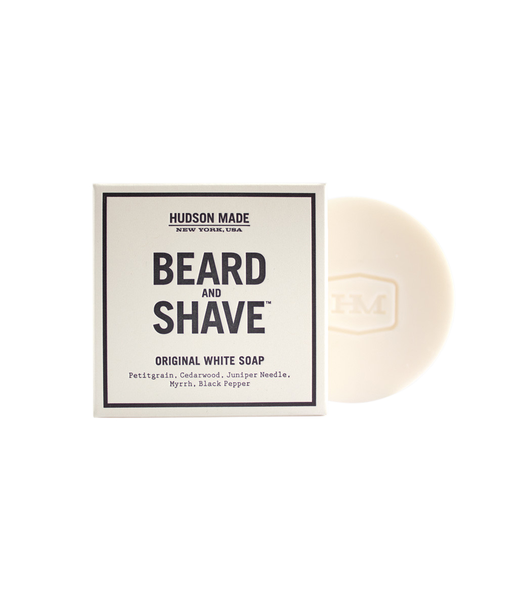 Hudson Made Beard and Shave Soap in Original White