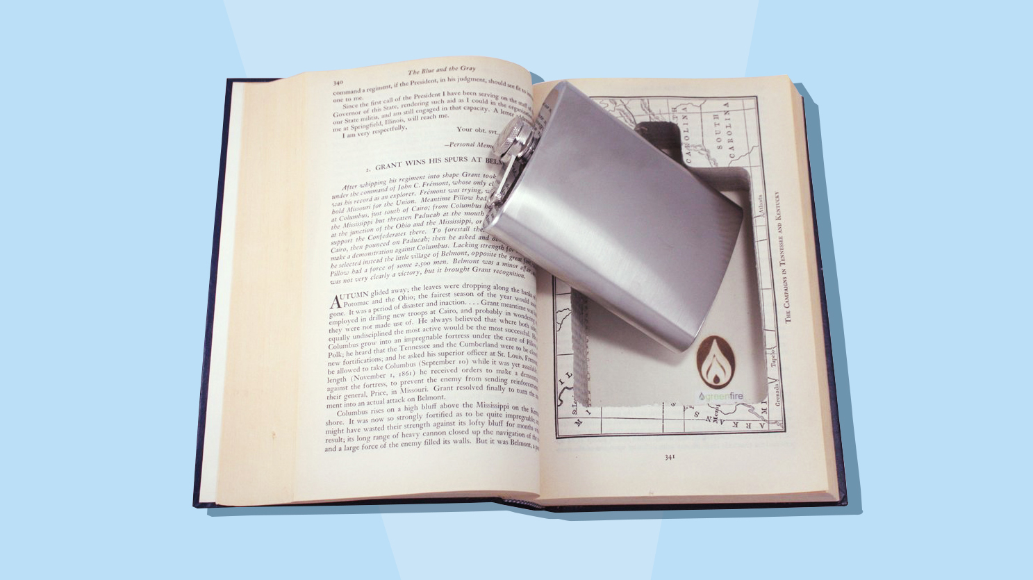 Funny gifts for men and guys - flask in book tout