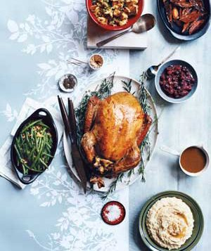 Thanksgiving turkey and side dishes