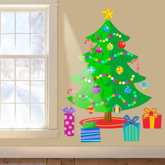 Alternative Christmas trees - Decal Christmas Tree