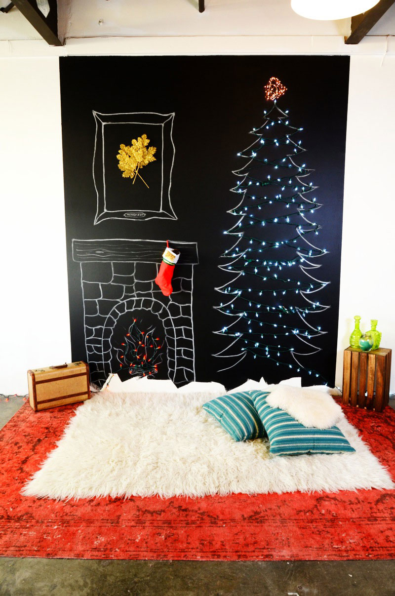 Unconventional Christmas Trees how to decorate for christmas without a tree | real simple