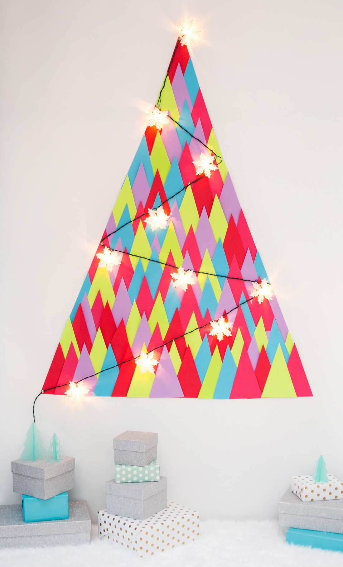 Paper Triangle Tree