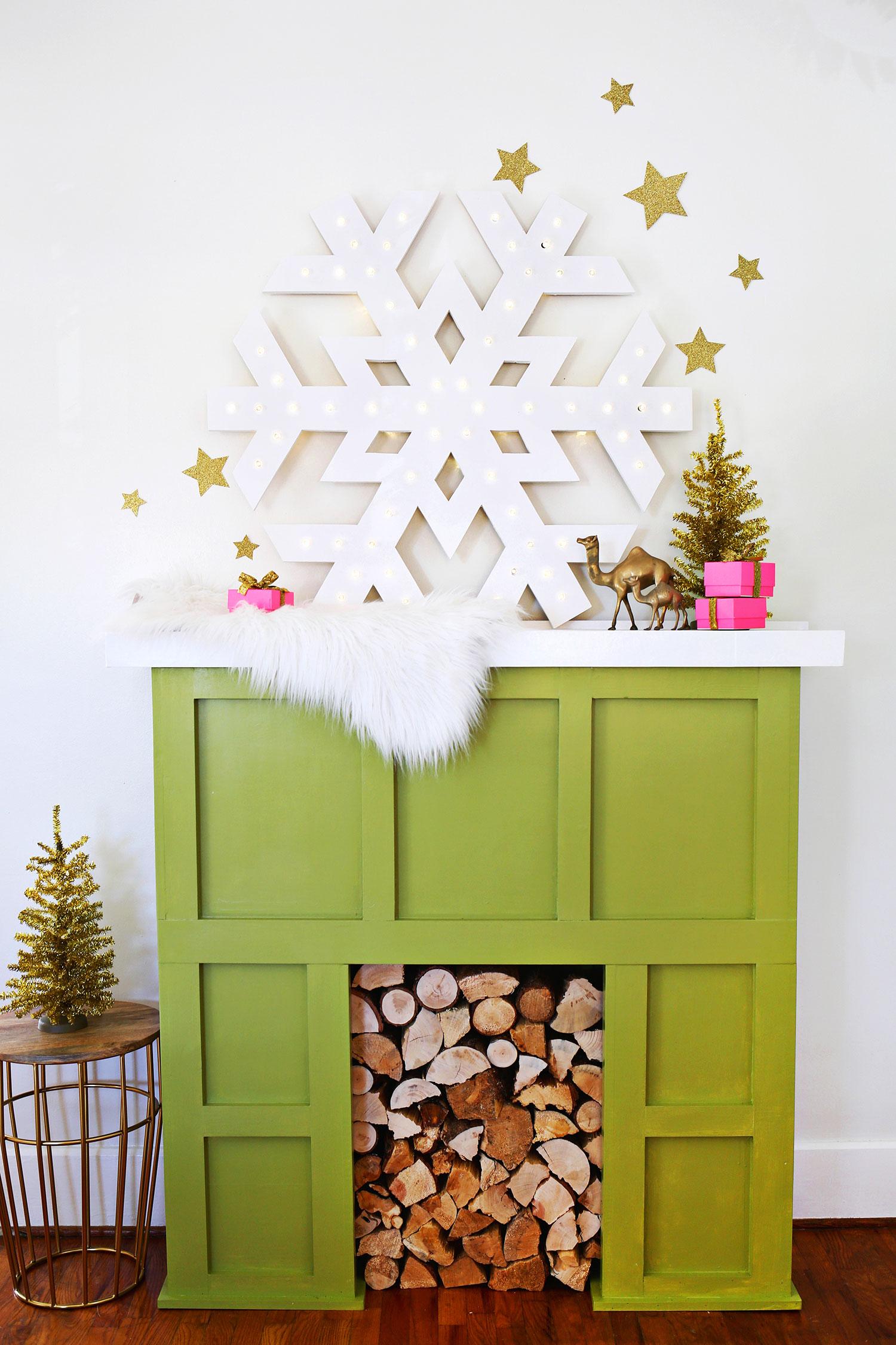 Faux Fireplace Facade